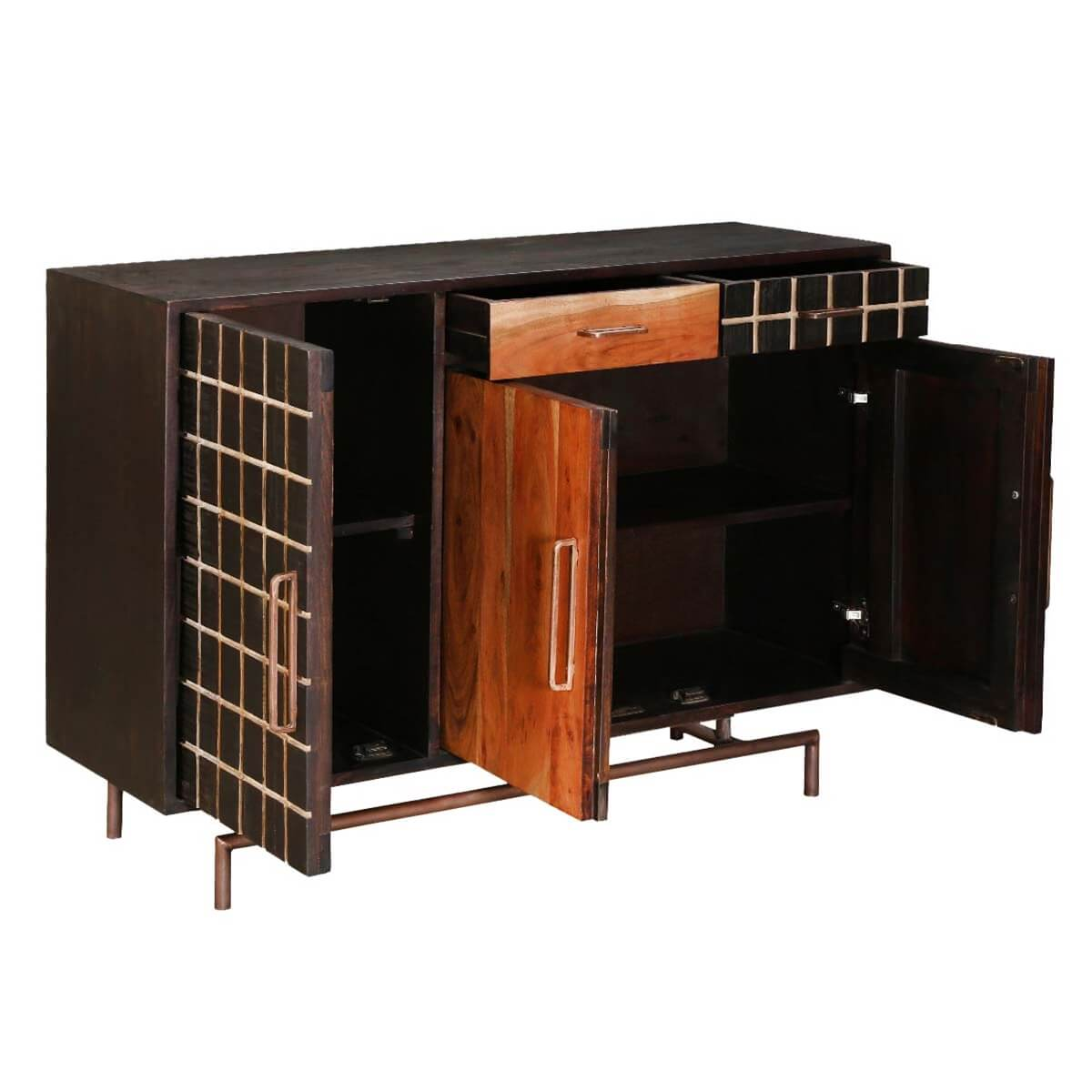 Victoria acacia wood drawer sideboard storage cabinet