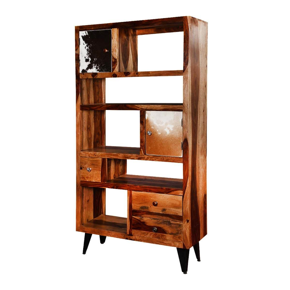 "California Exquisite 68"" Accent Display Storage Rack with Drawers"