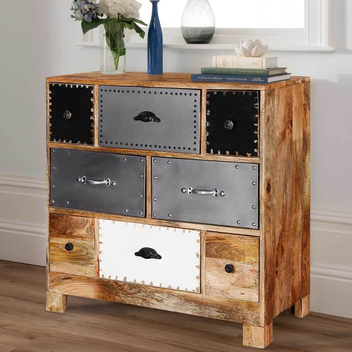 rustic drawer product dresser reclaimed wood chest phoenix