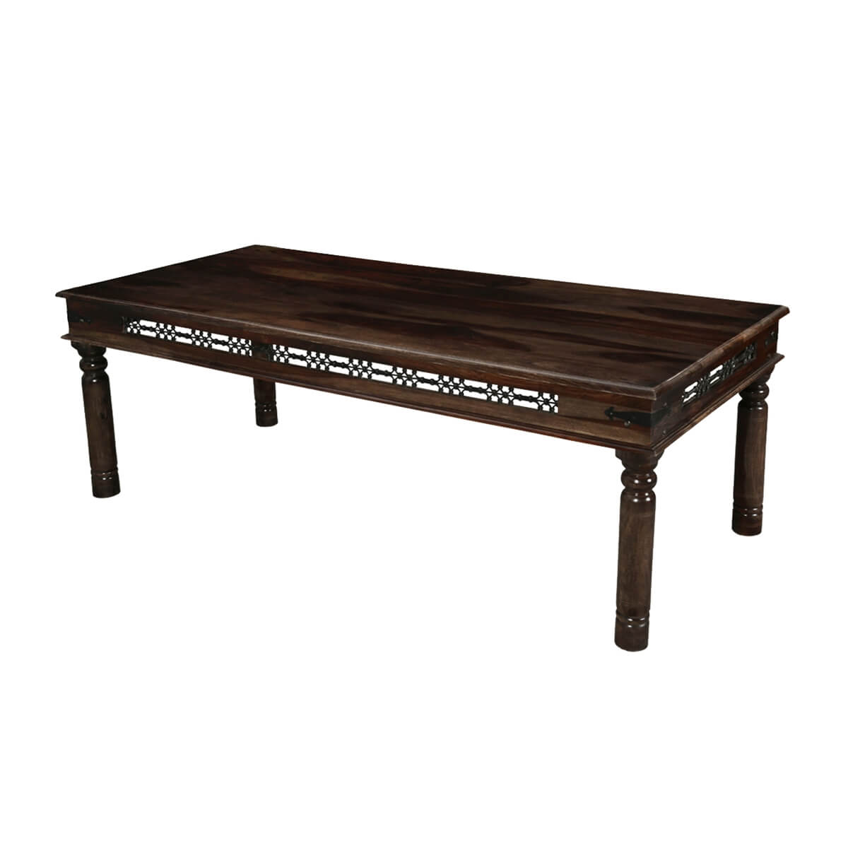 philadelphia classic solid wood iron grill large rustic dining table. Black Bedroom Furniture Sets. Home Design Ideas