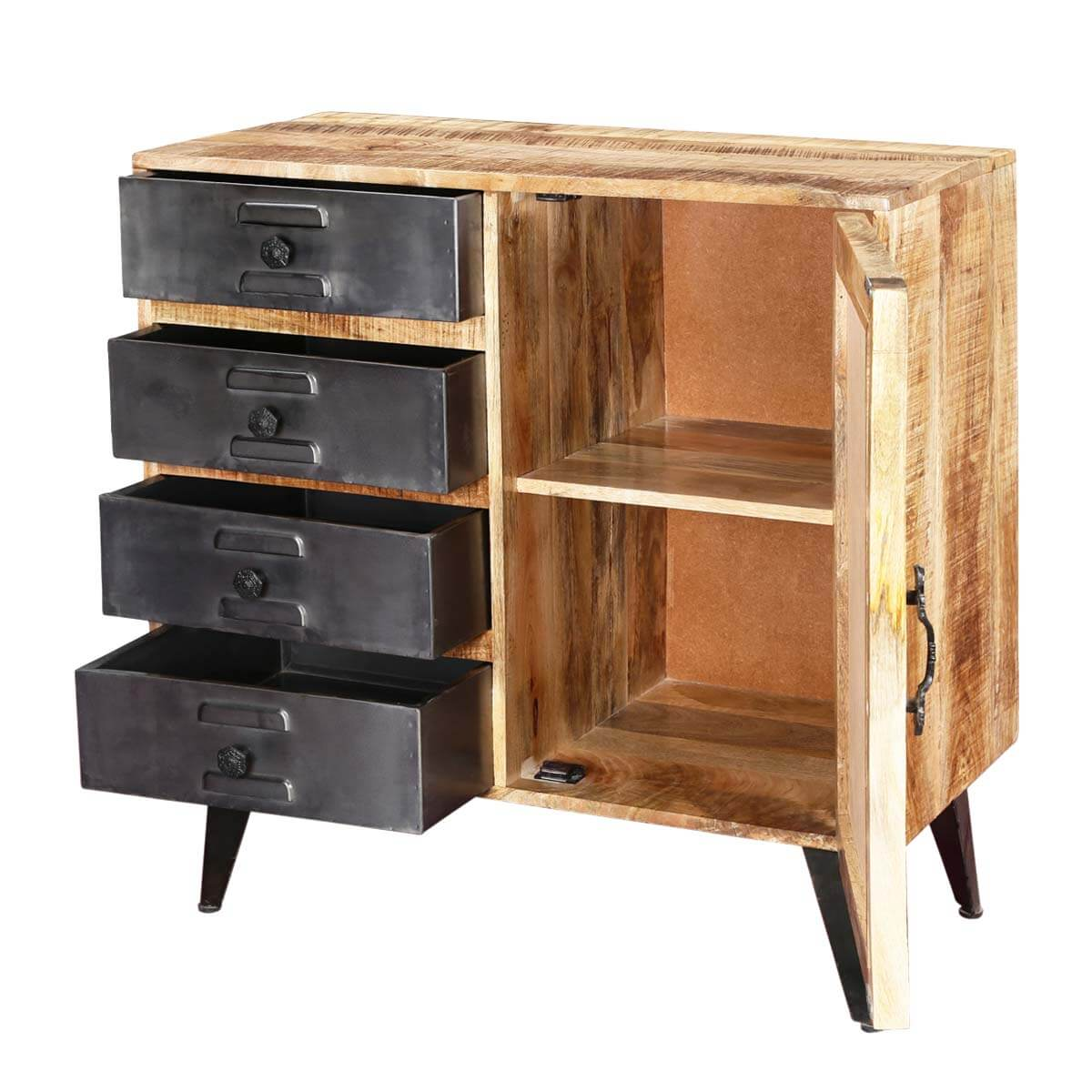 design home open beautiful up intricately accent an pin mirrored cabinet space carved and door a sleek storage front the to reveal fronts with diy this on cabinets inside