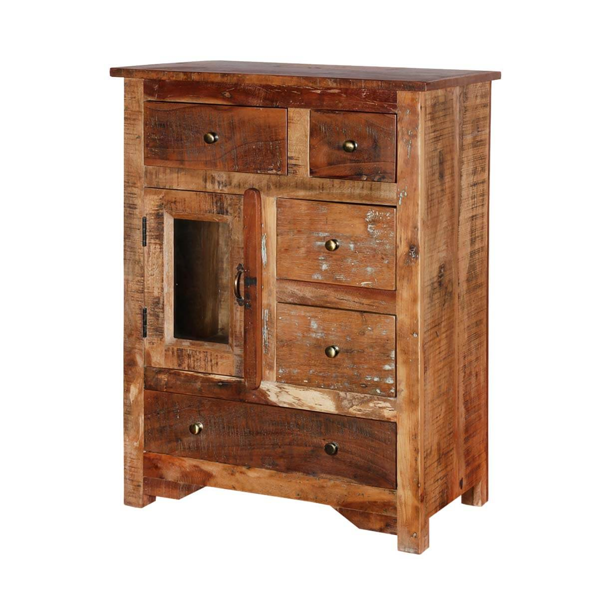 sc 1 st  Sierra Living Concepts & Richmond Rustic Reclaimed Wood 5 Drawers Accent Storage Cabinet