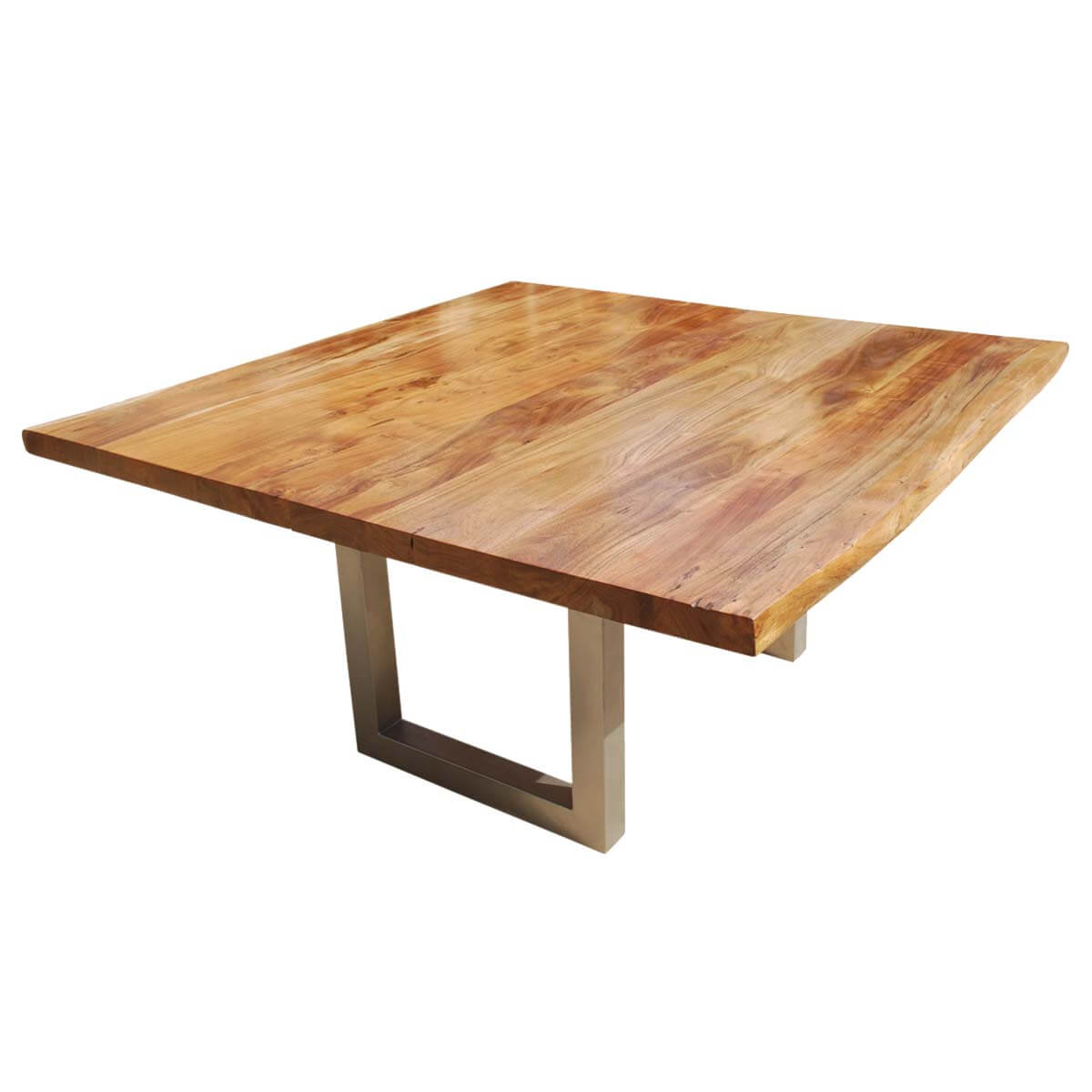 moab square acacia wood live edge rustic dining table. Black Bedroom Furniture Sets. Home Design Ideas