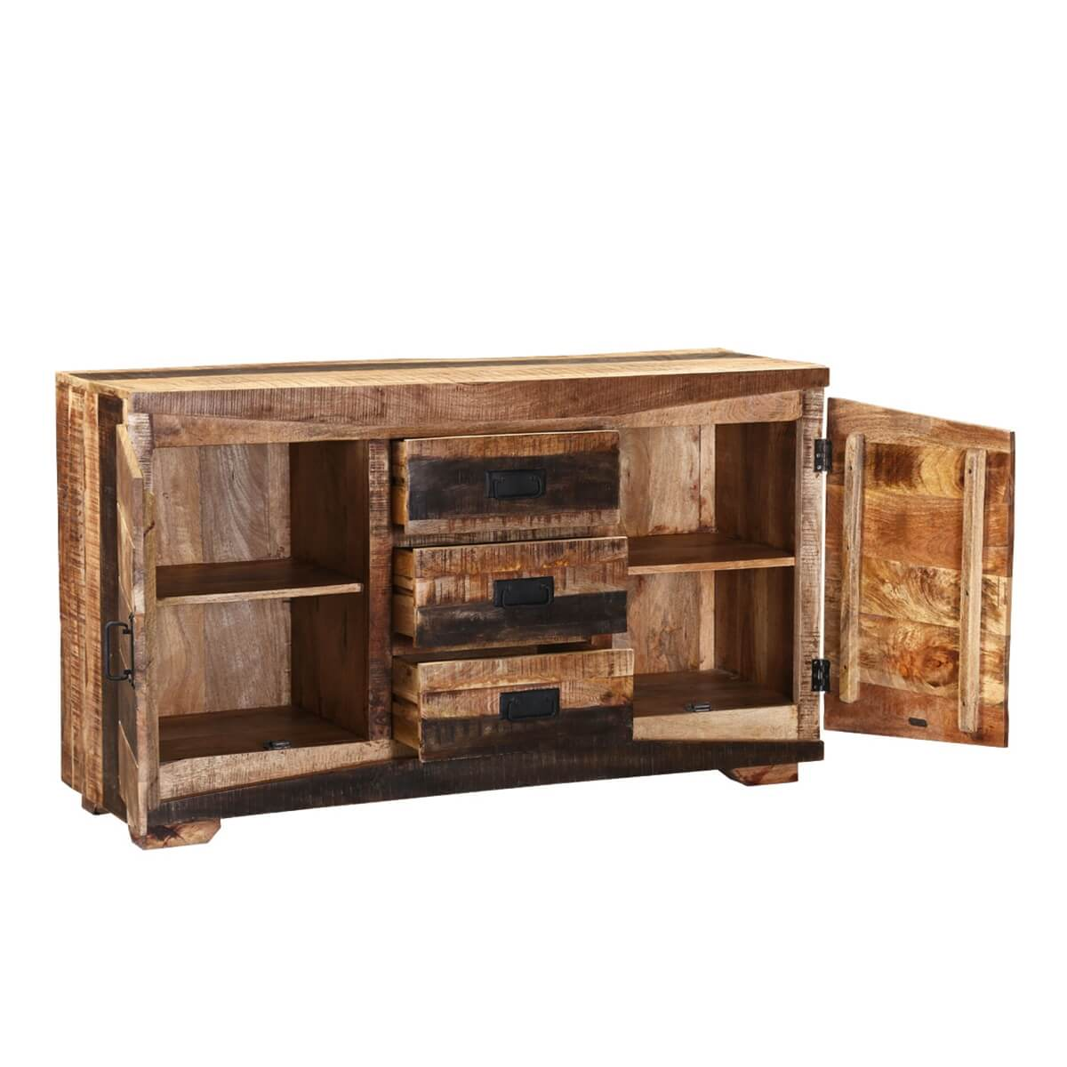 modern frontier rustic mango wood free standing 3 drawer. Black Bedroom Furniture Sets. Home Design Ideas