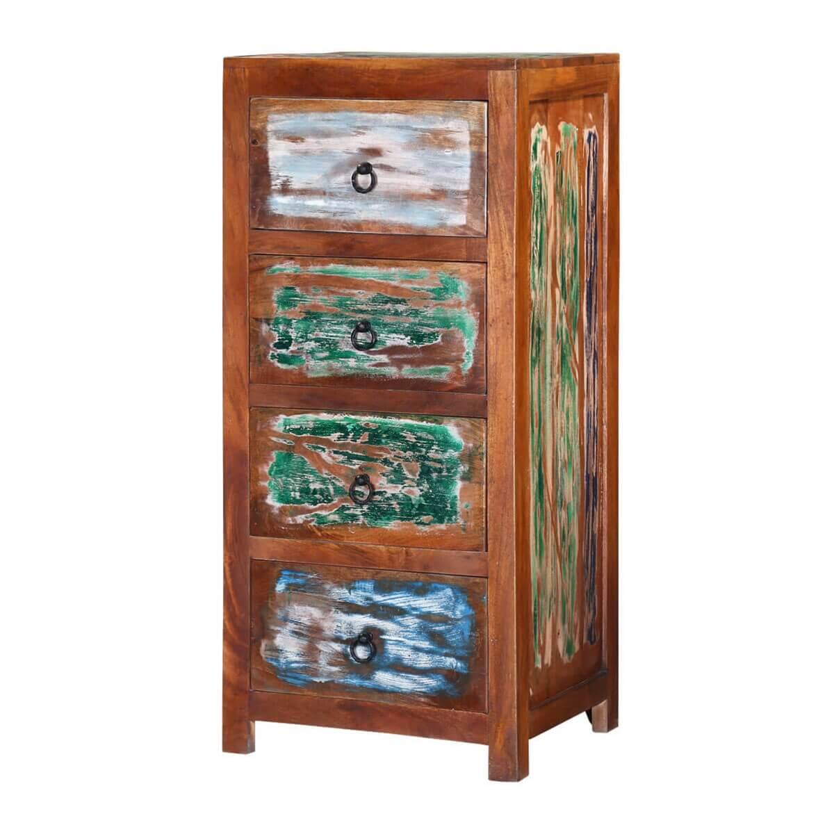 modern pioneer colors 47 quot reclaimed wood 4 drawer dresser