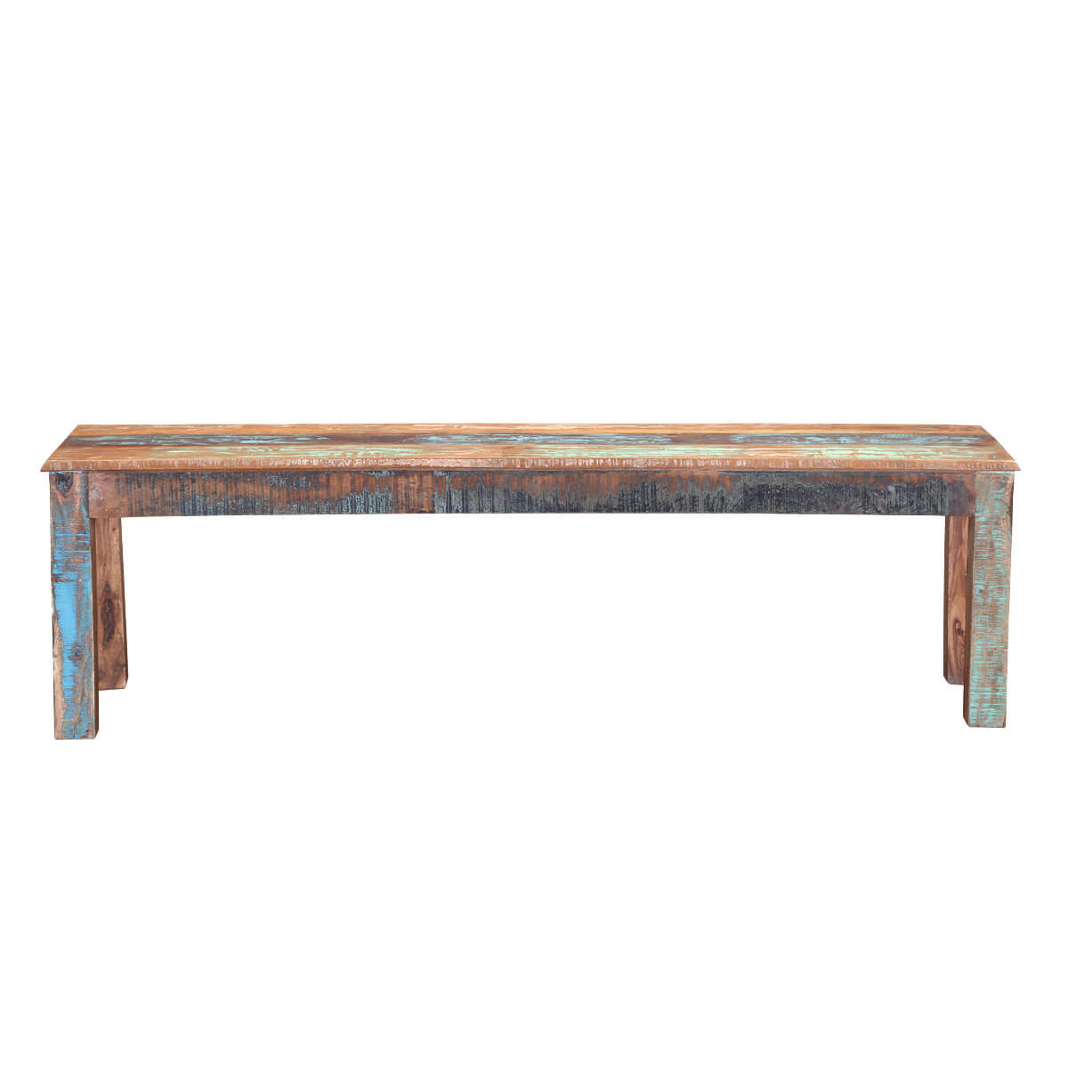 ... Rustic Colors 62 Reclaimed Wood Backless Dining Bench ... - Rustic Colors 62