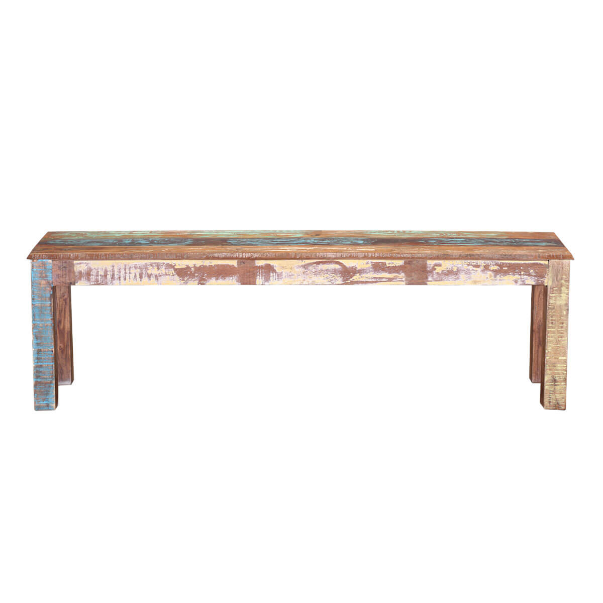 Olsen Rustic Colors Reclaimed Wood Backless Dining Bench