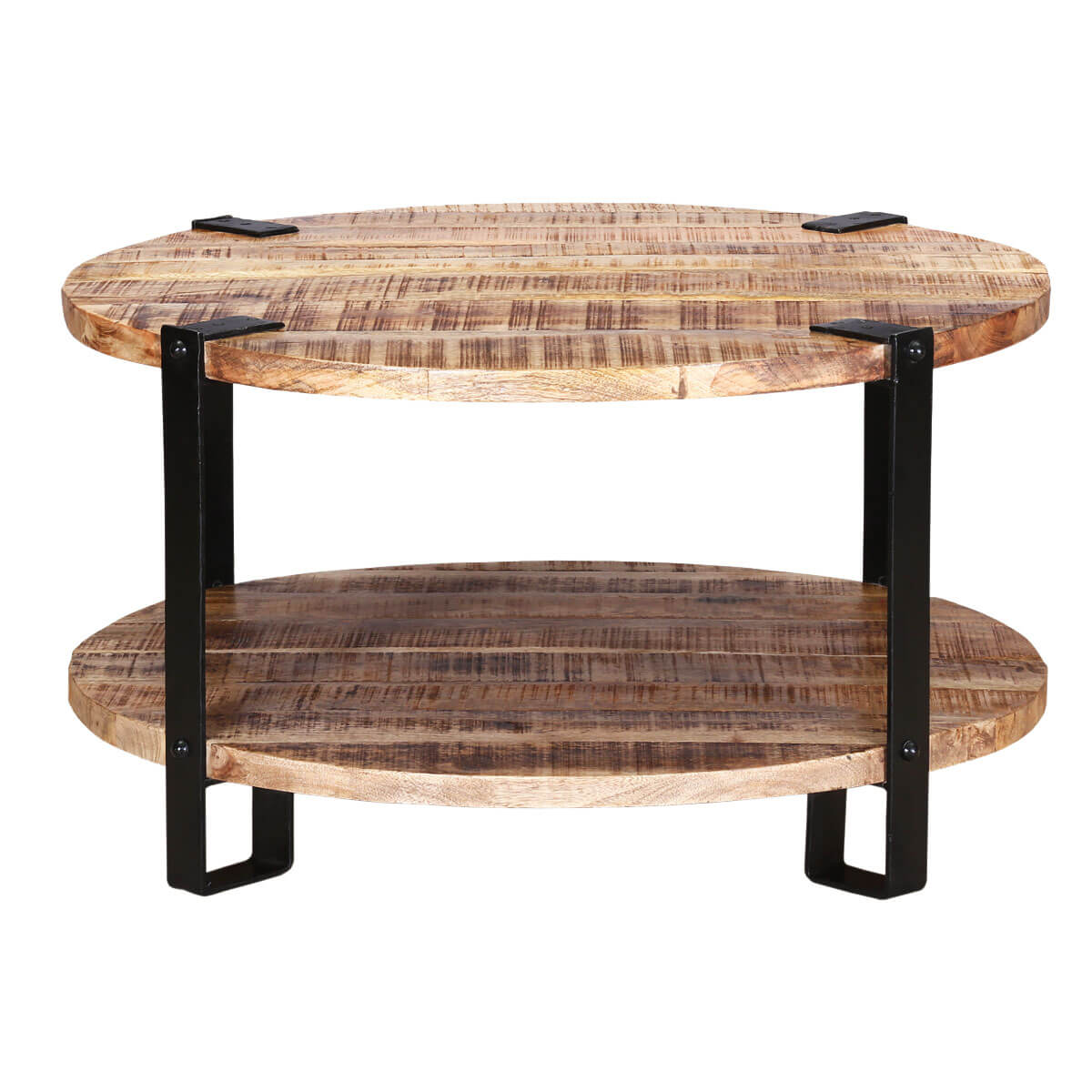 """35"""" Rustic Industrial Round Barn Coffee Table. Used Medical Exam Tables. Extra Long Dining Table Seats 12. Lap Desk With Mouse Tray. Countertop Storage Drawers. Vintage Desk Clock. Table For Two. Uits Help Desk. Red Desk Accessories"""