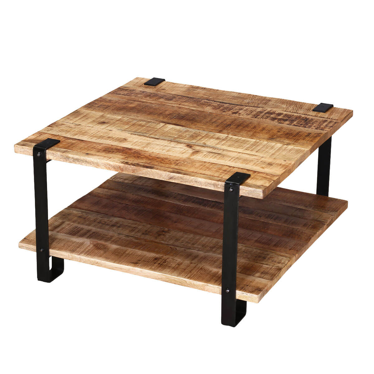 Industrial Coffee Table Images: Roxborough Rustic Industrial Square Coffee Table With Saw