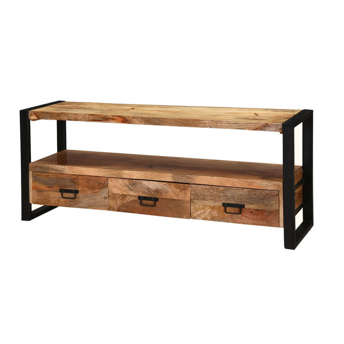 Roxborough 59 Industrial Three Drawer Rustic Media