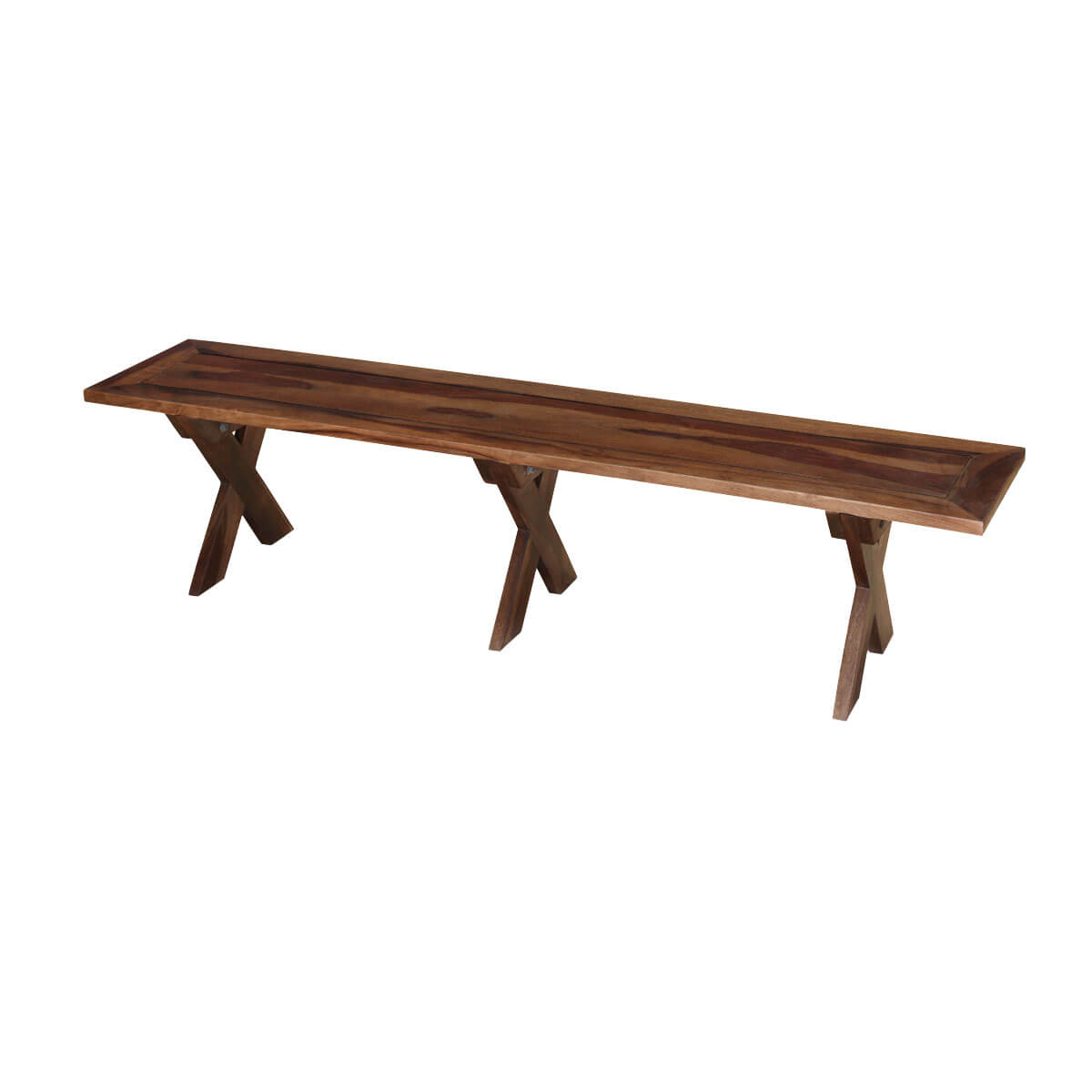 Traditional American Solid Wood Picnic Style Dining Bench