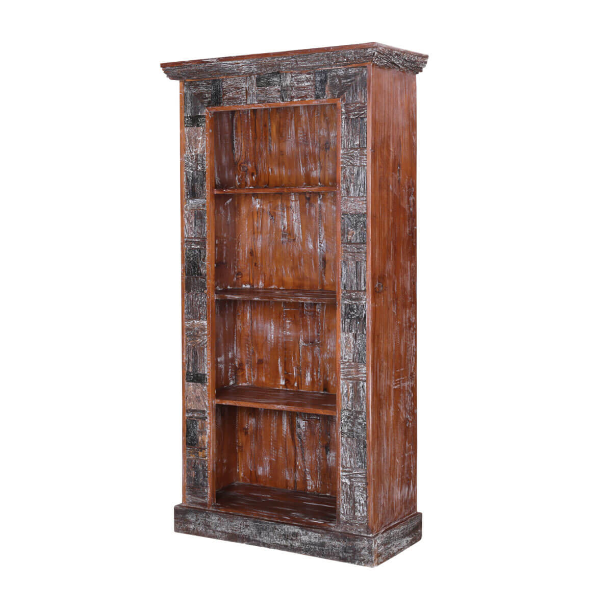 industrial products elm modular storage o bookcase rustic west