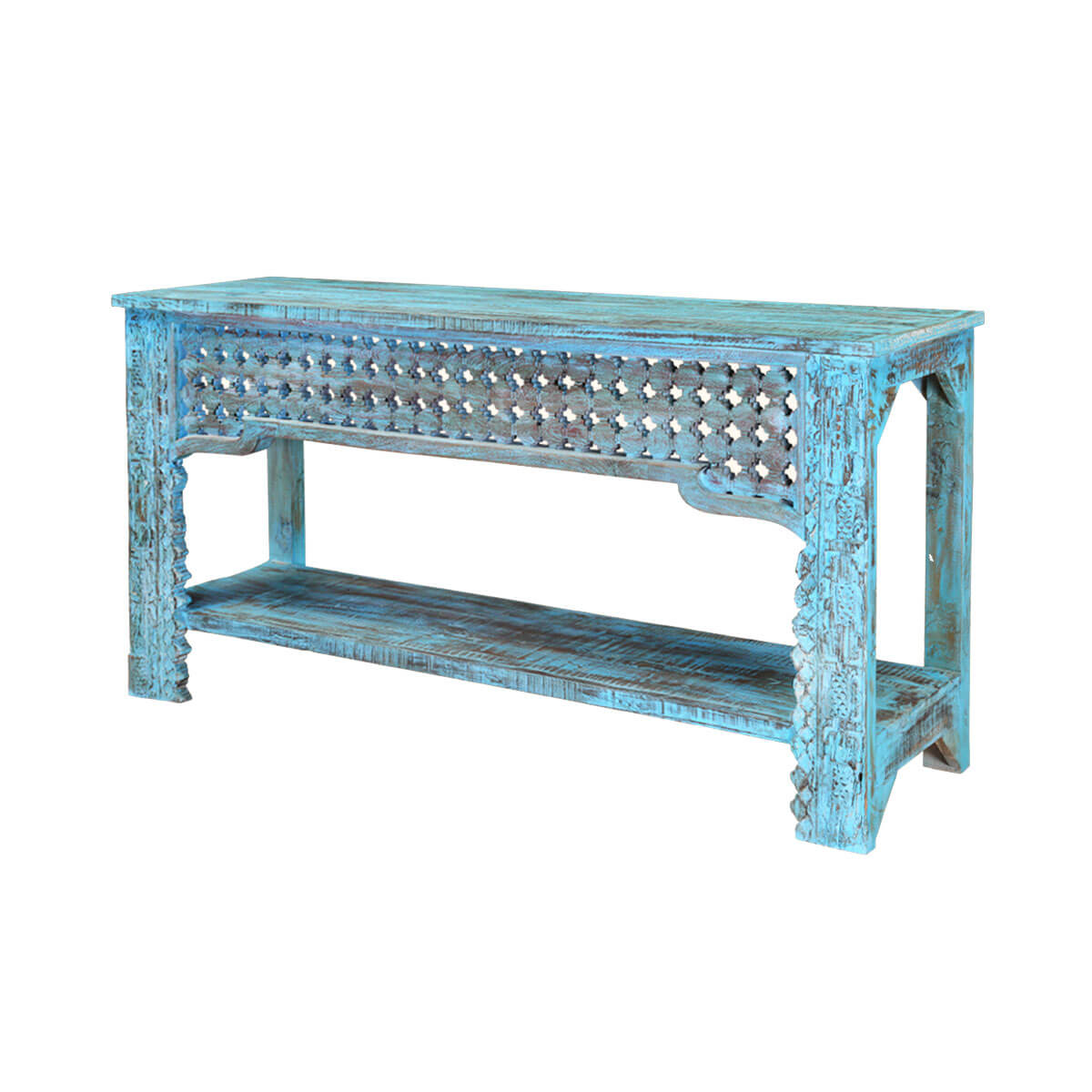 hall table furniture. Blue-diamonds-hand-carved-mango-wood-hall-console- Hall Table Furniture