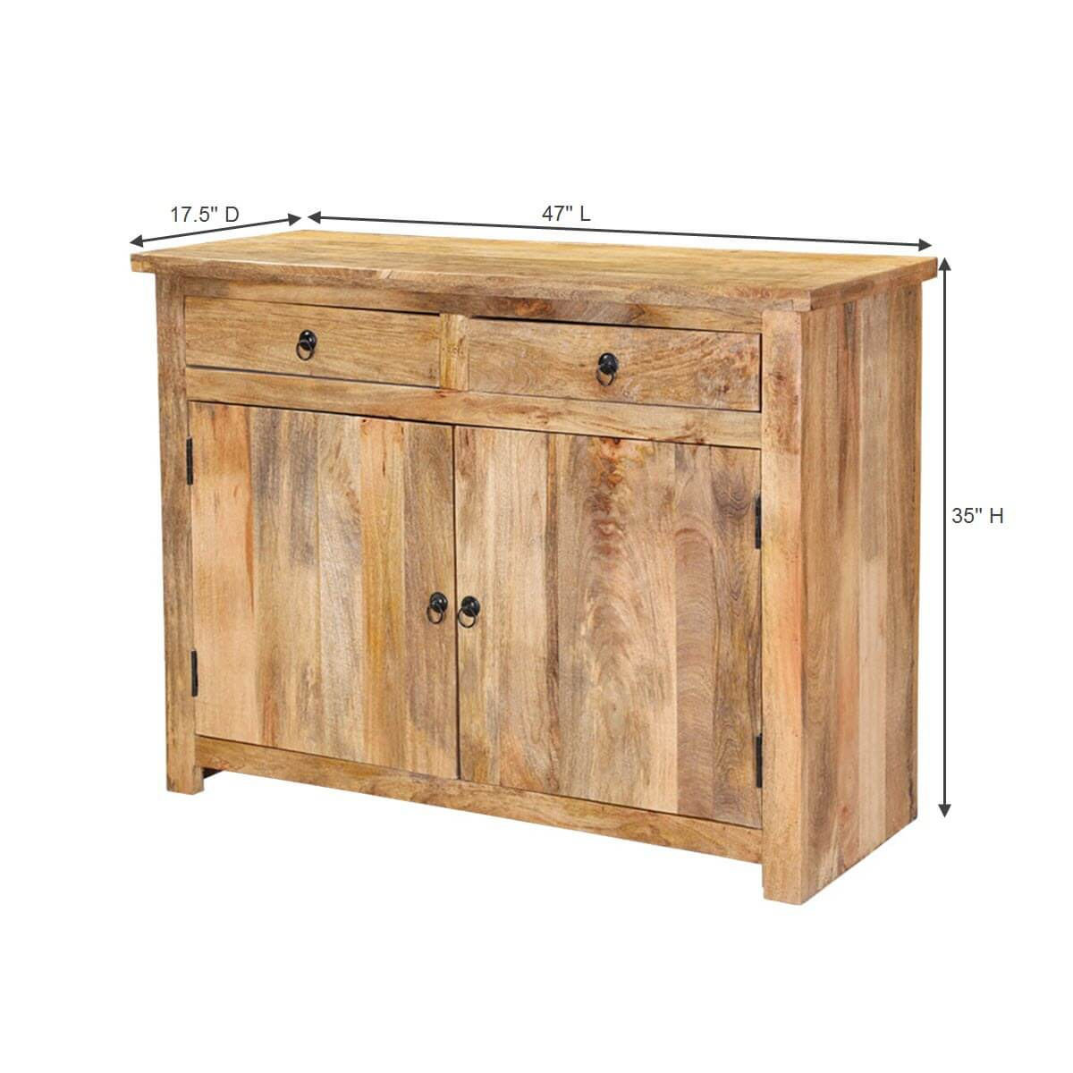 "47"" Farmhouse Mango Wood Buffet Cabinet"