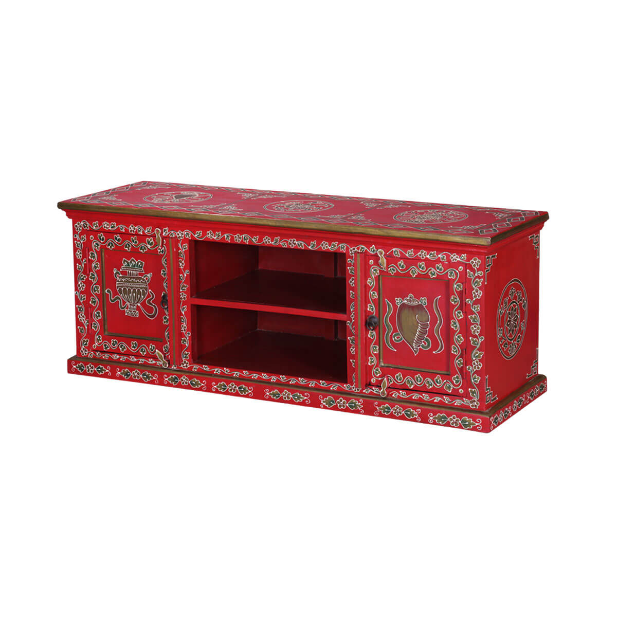 Solvang 54 Hand Painted Solid Wood Tv Media Console
