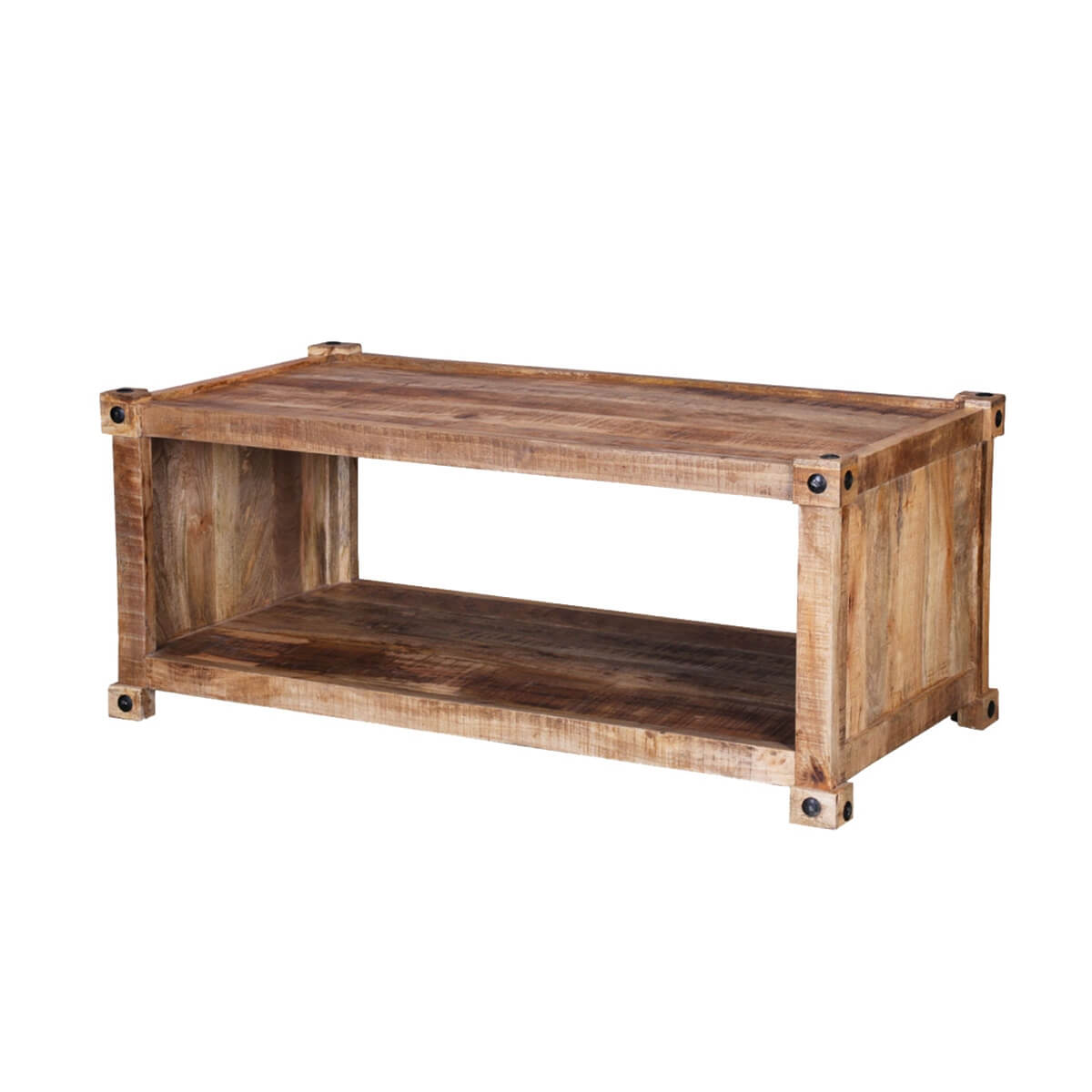 Vail 48 handcrafted solid wood rustic coffee table Handcrafted coffee table