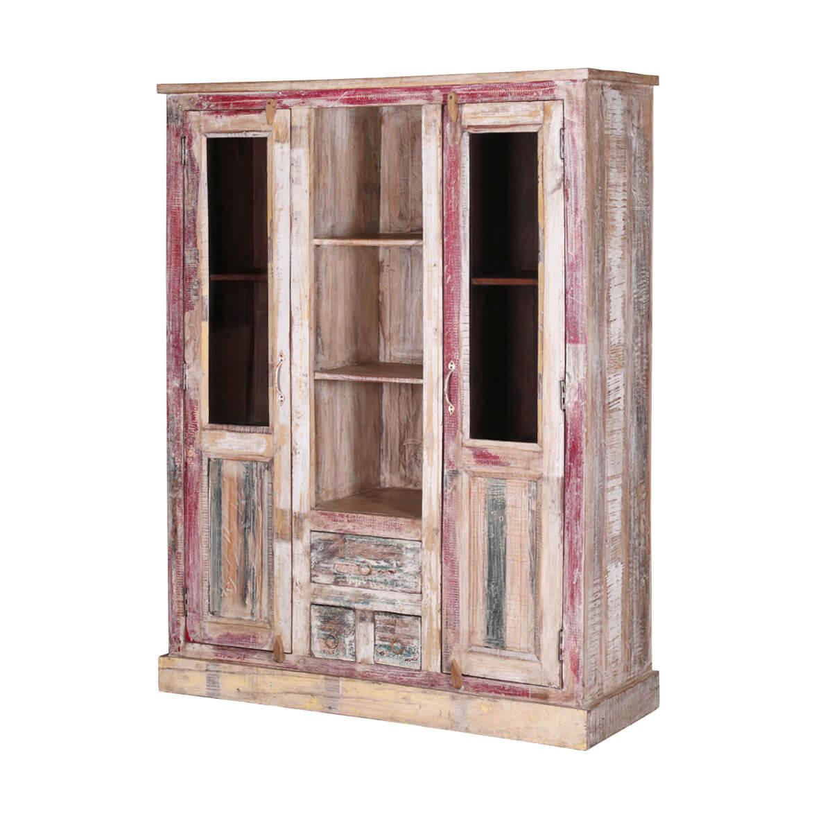 Blue Ridge Reclaimed Wood 2 Door Rustic Display Cabinet