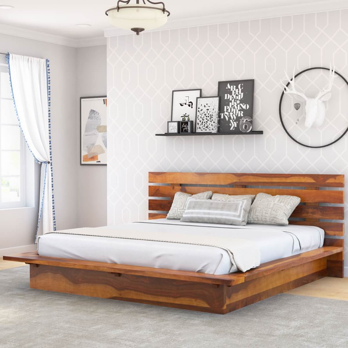 contemporary bed frames flagstaff solid wood size platform bed frame 11186