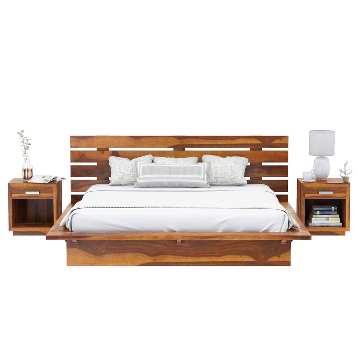 Flagstaff handcrafted solid wood platform bed Wood platform bed