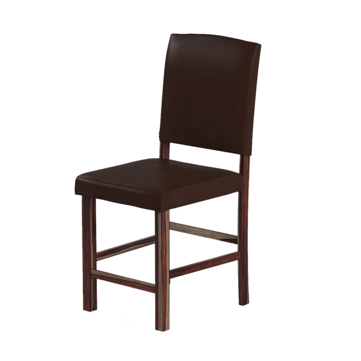 Wood Saloon Chairs ~ S retro diner solid wood leather high back bar chair
