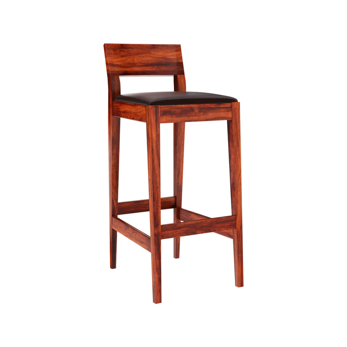 Lincoln Modern Rustic Solid Wood Low Back Tall Bar Chair (Set of 2)  sc 1 st  Sierra Living Concepts : low back bar stools wood - islam-shia.org