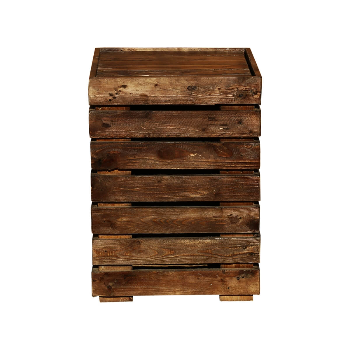 Modern Pioneer Mango Wood 18u201d Square Rustic End Table