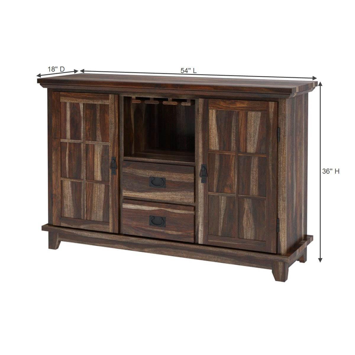 Alabama modern stylish solid wood 2 drawer sideboard cabinet for Sideboard modern