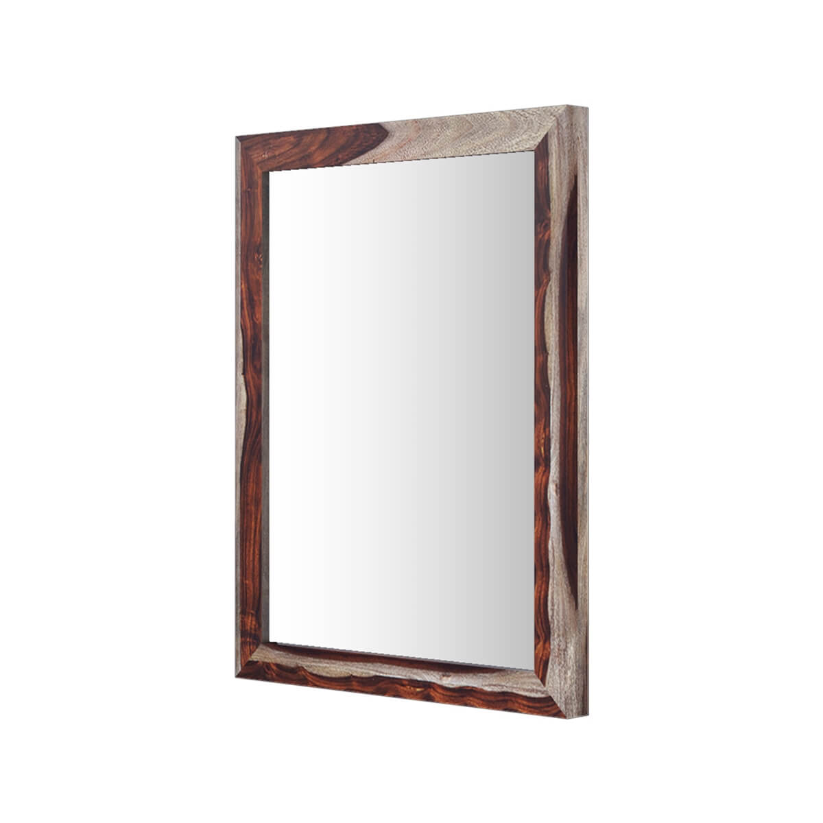 Jamaica handcrafted solid wood contemporary wall mirror frame for Contemporary wall mirrors