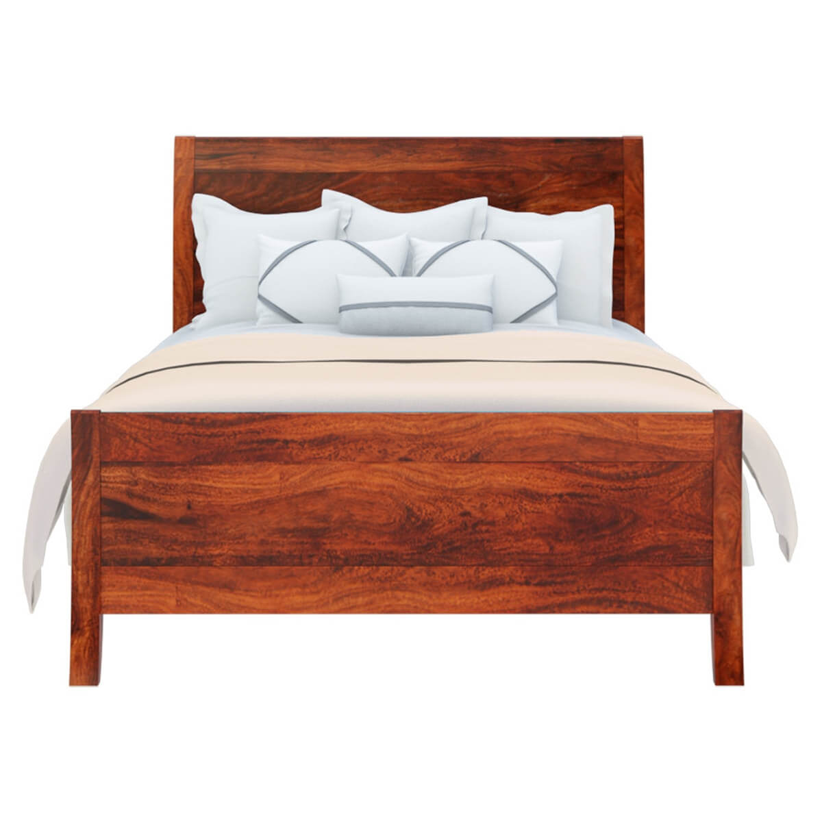 Handmade Solid Wood Island Units: Georgia Modern Solid Wood Handmade Full Size Platform Bed