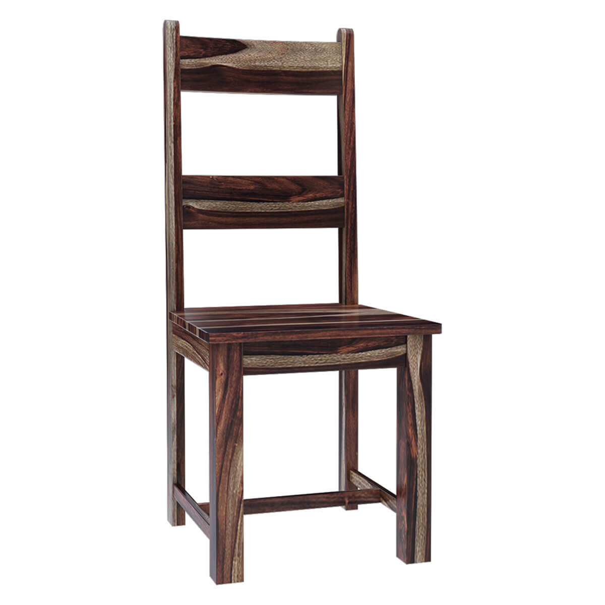 Alabama Modern Rustic Solid Wood Ladder Back Dining Chair