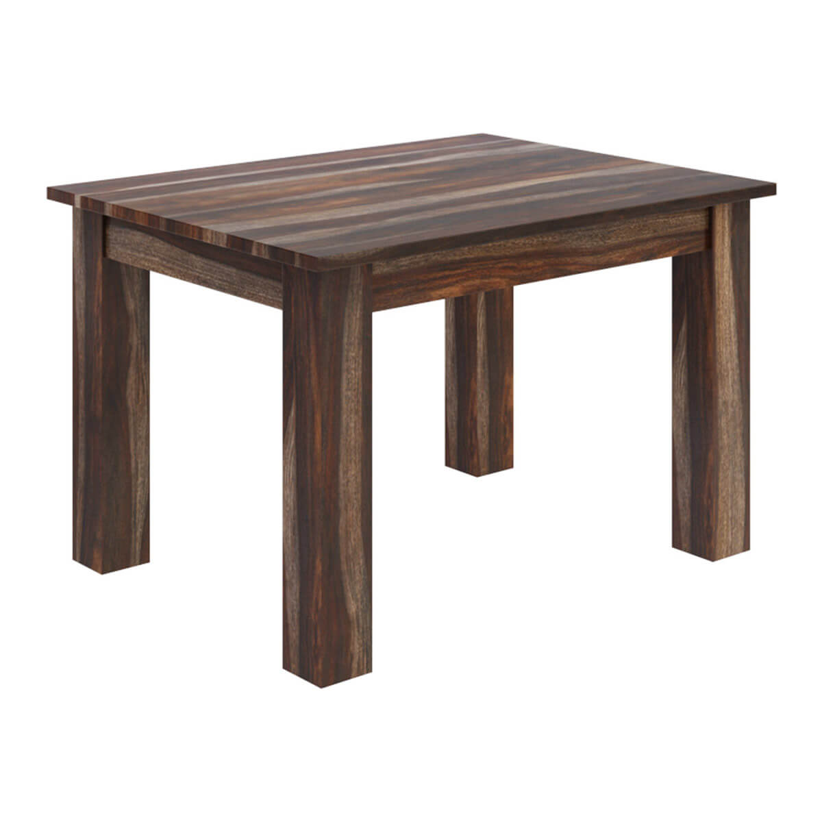 Alabama modern rustic solid wood rectangular dining table for Contemporary rectangular dining table