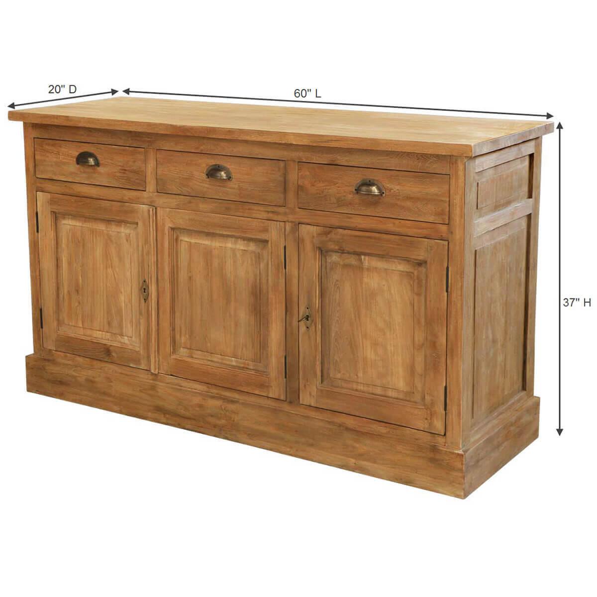 Heurich traditional reclaimed teak wood drawer sideboard