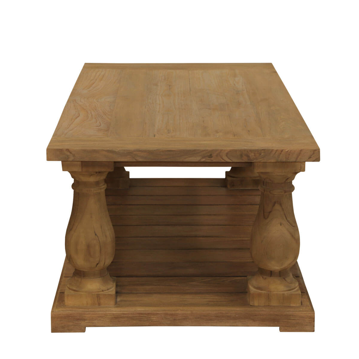 Reclaimed teak wood balustrade coffee table for Reclaimed teak wood coffee table