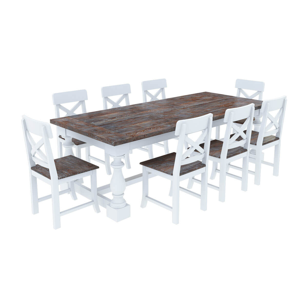 Danville Modern Teak And Solid Wood Dining Table With 8