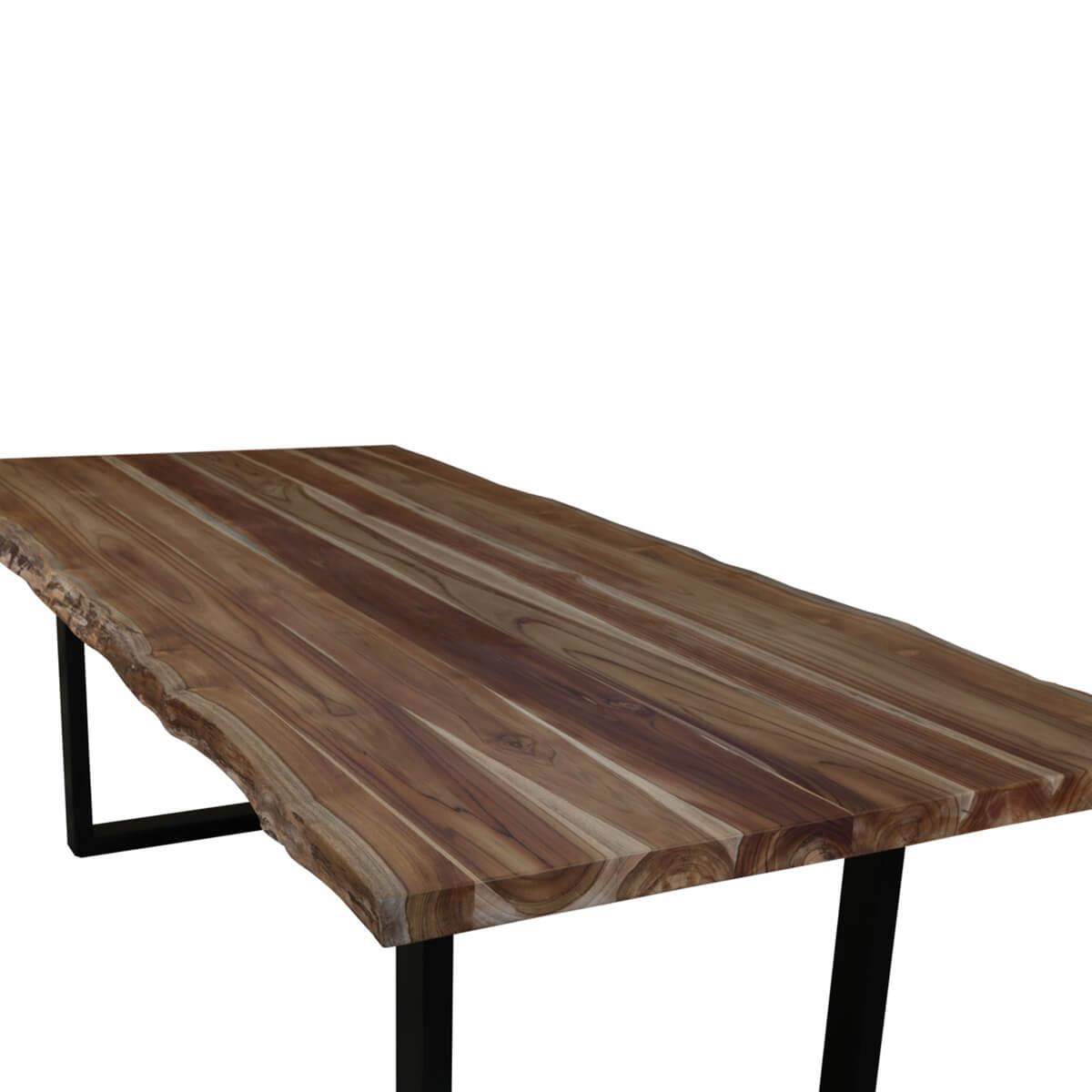 Coffee Table Teak Live Edge: Copenhagen Teak Wood Single Slab Live Edge Large Dining Table