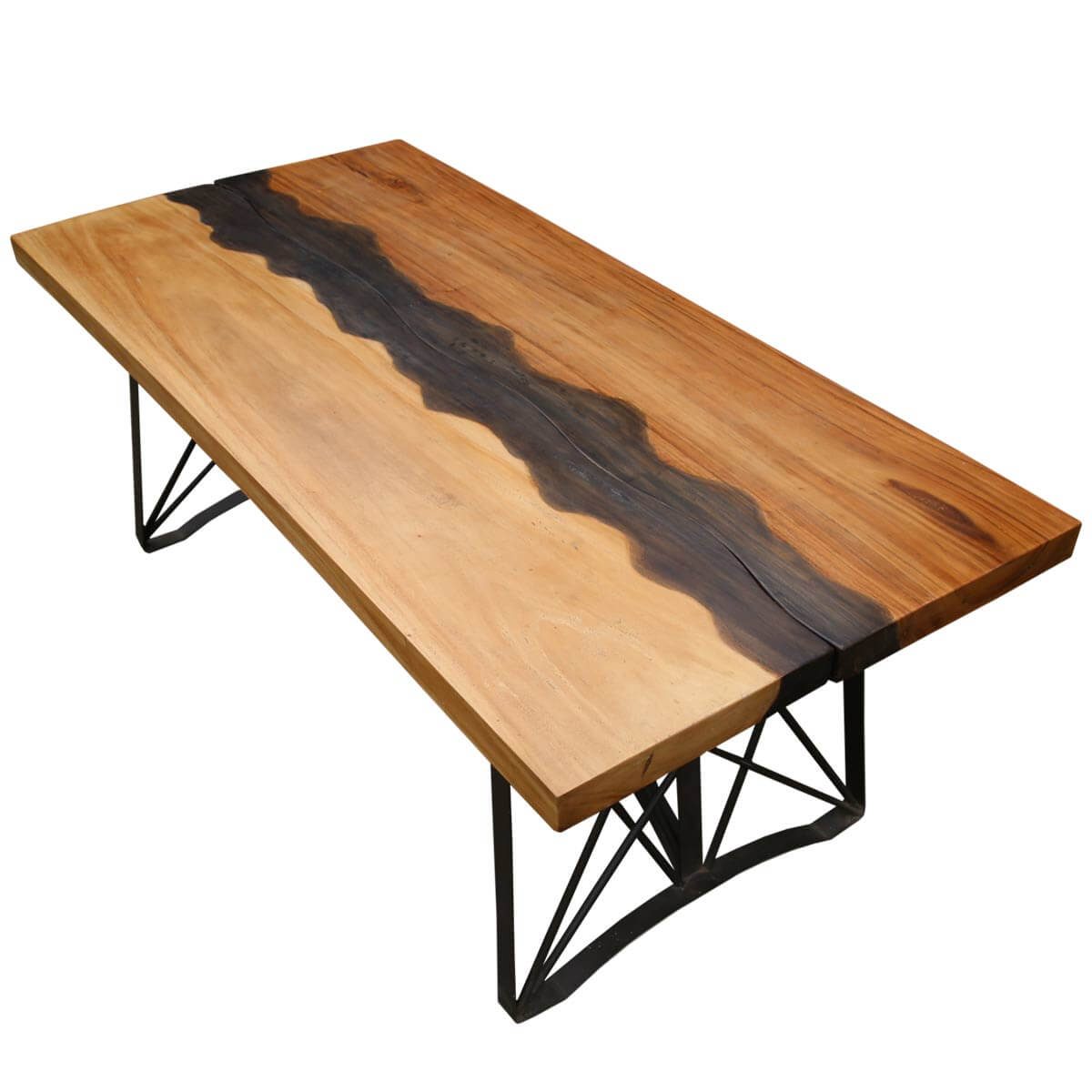 Torrance Iron Base Live Edge Large Industrial Dining Table : 8944 from www.sierralivingconcepts.com size 1200 x 1200 jpeg 81kB