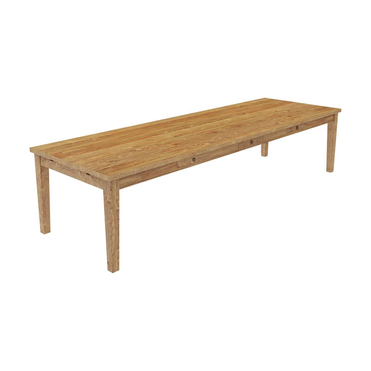 brussels teak wood large extendable dining table for 16 people. Black Bedroom Furniture Sets. Home Design Ideas