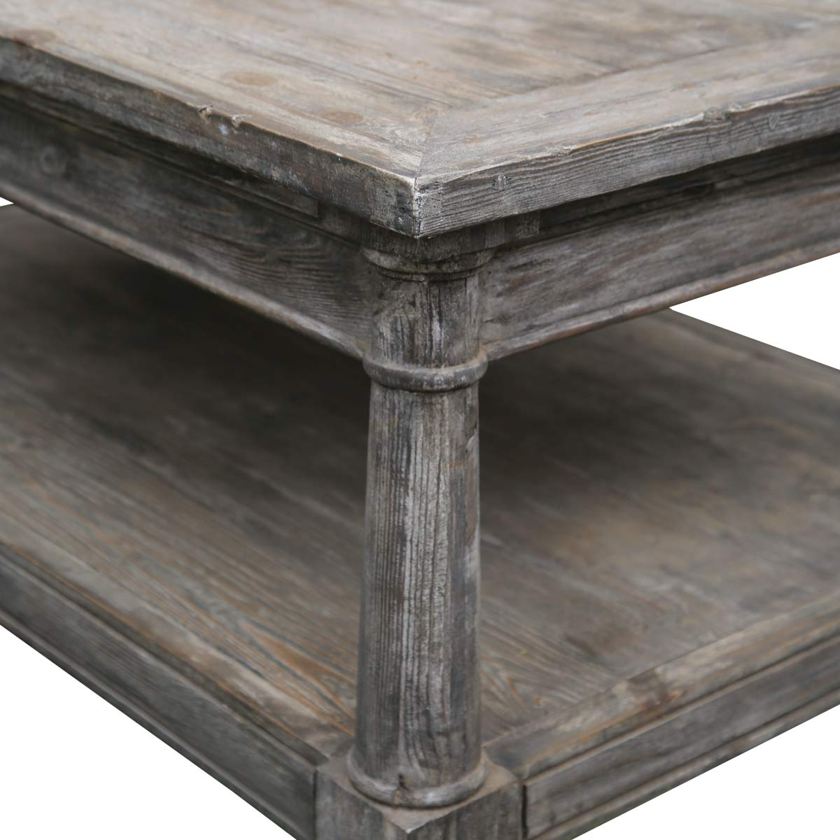 Shabby Chic Corner Coffee Table: Shabby Chic Rectangle Baluster Coffee Table Made Of Teak Wood