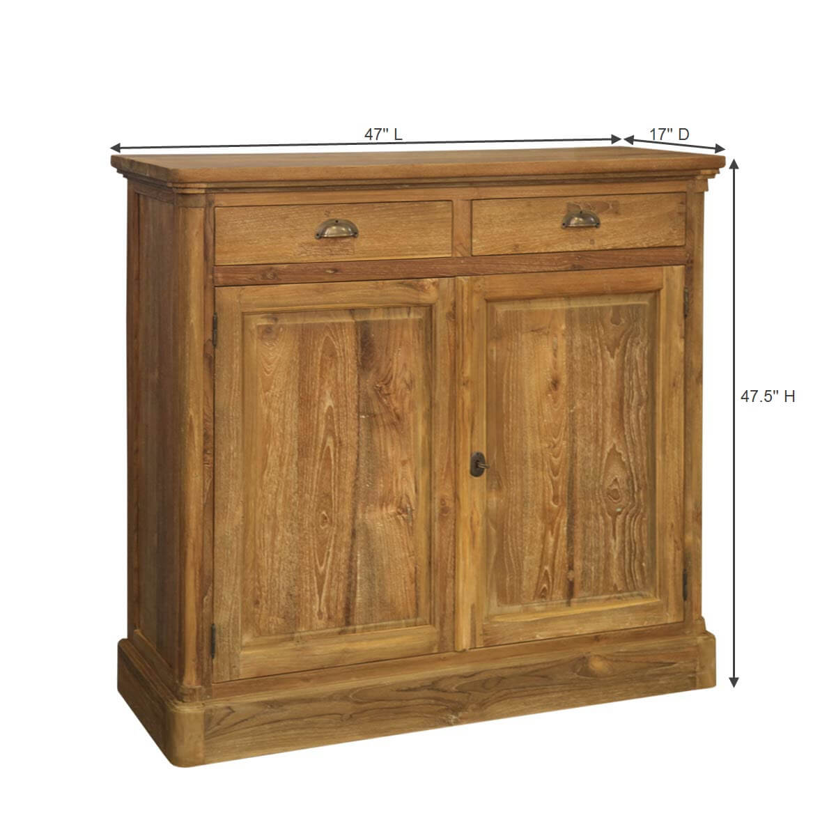 Rustic Foyer Chest : Quiroga rustic reclaimed teak wood drawer hallway accent