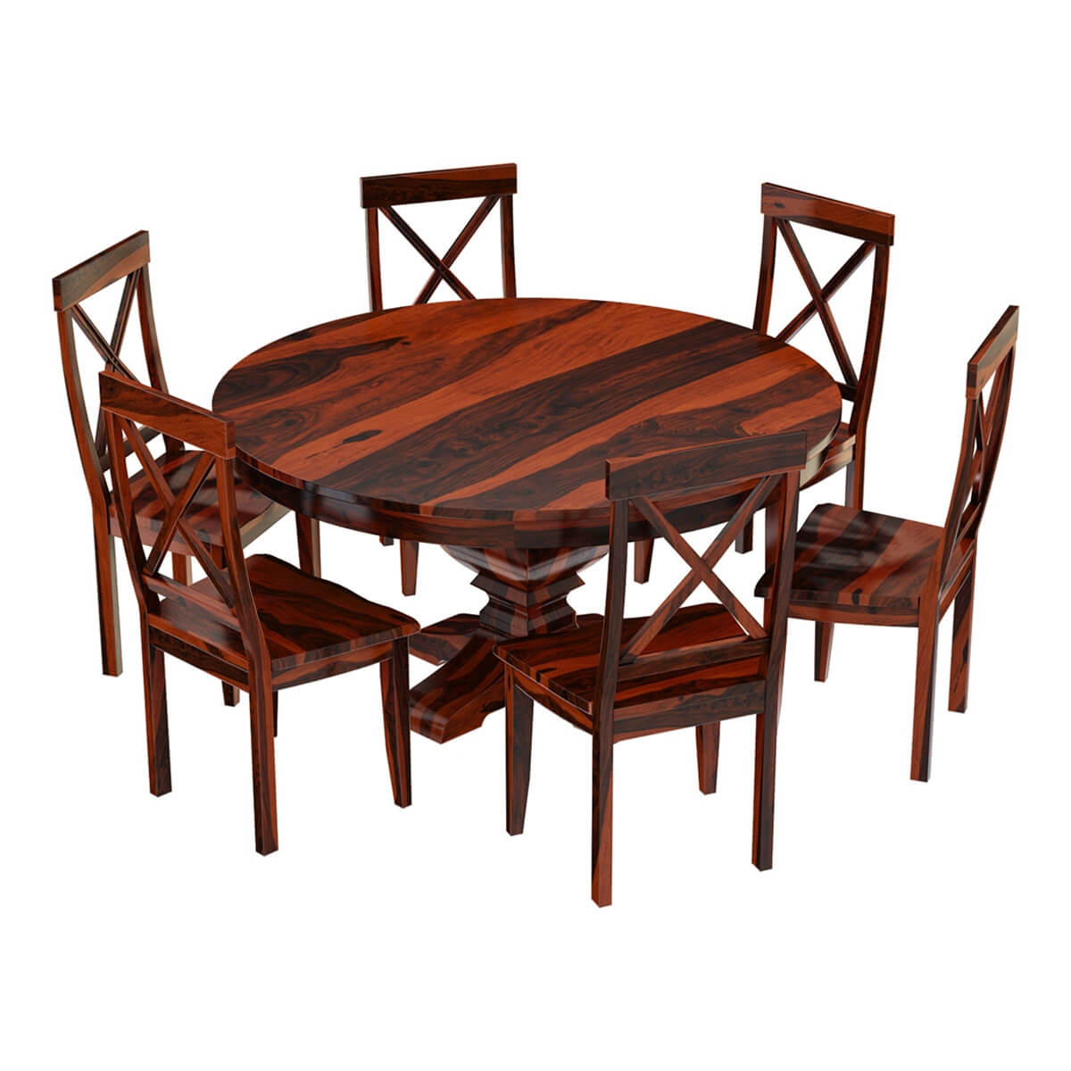 Dining Room Sets Wood: Missouri Solid Wood 8 Piece Round Dining Room Set