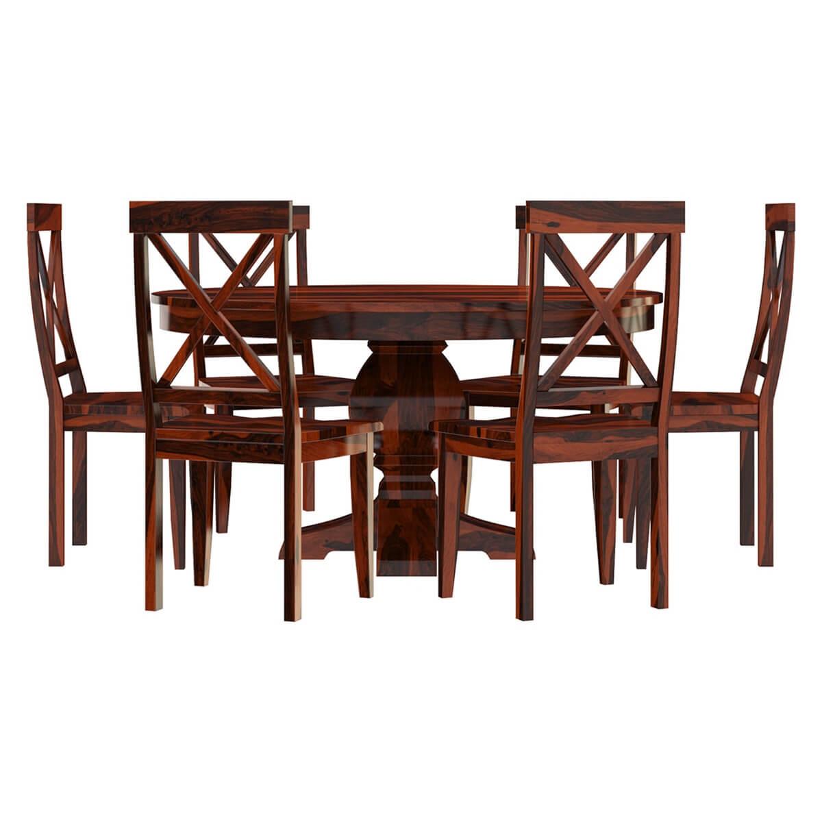 Missouri Solid Wood 8 Piece Round Dining Room Set