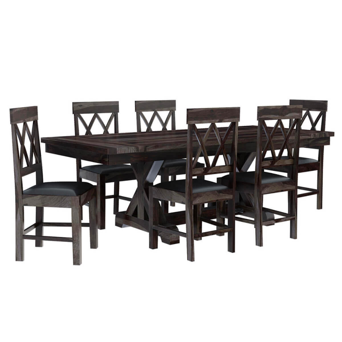 Antwerp Farmhouse Solid Wood Extendable Dining Table