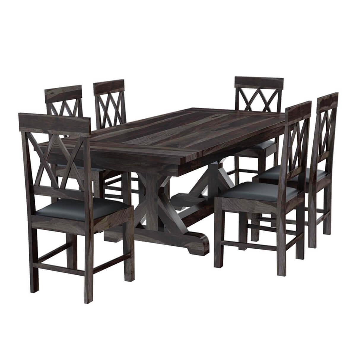 Farmhouse Kitchen Extending Table: Antwerp Farmhouse Solid Wood Extendable Dining Table & Chair Set