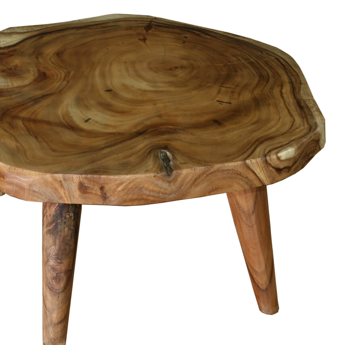Large Tree Stump Coffee Table: Escambia Tree Stump Live Edge Round Coffee Table