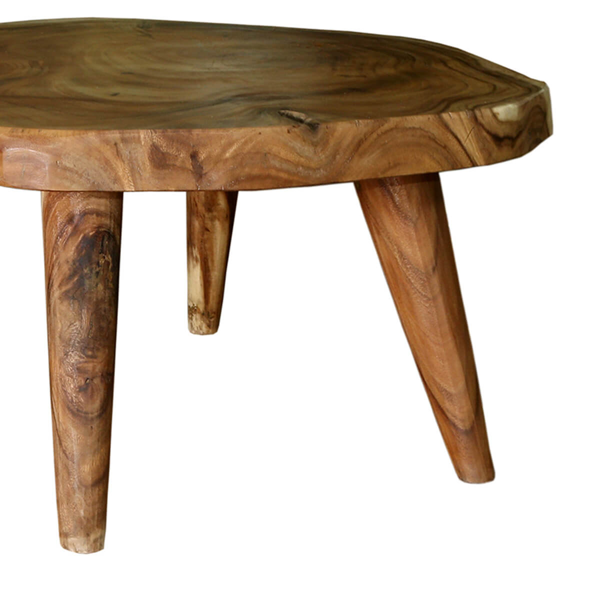 White Tree Stump Coffee Table: Escambia Tree Stump Live Edge Round Coffee Table