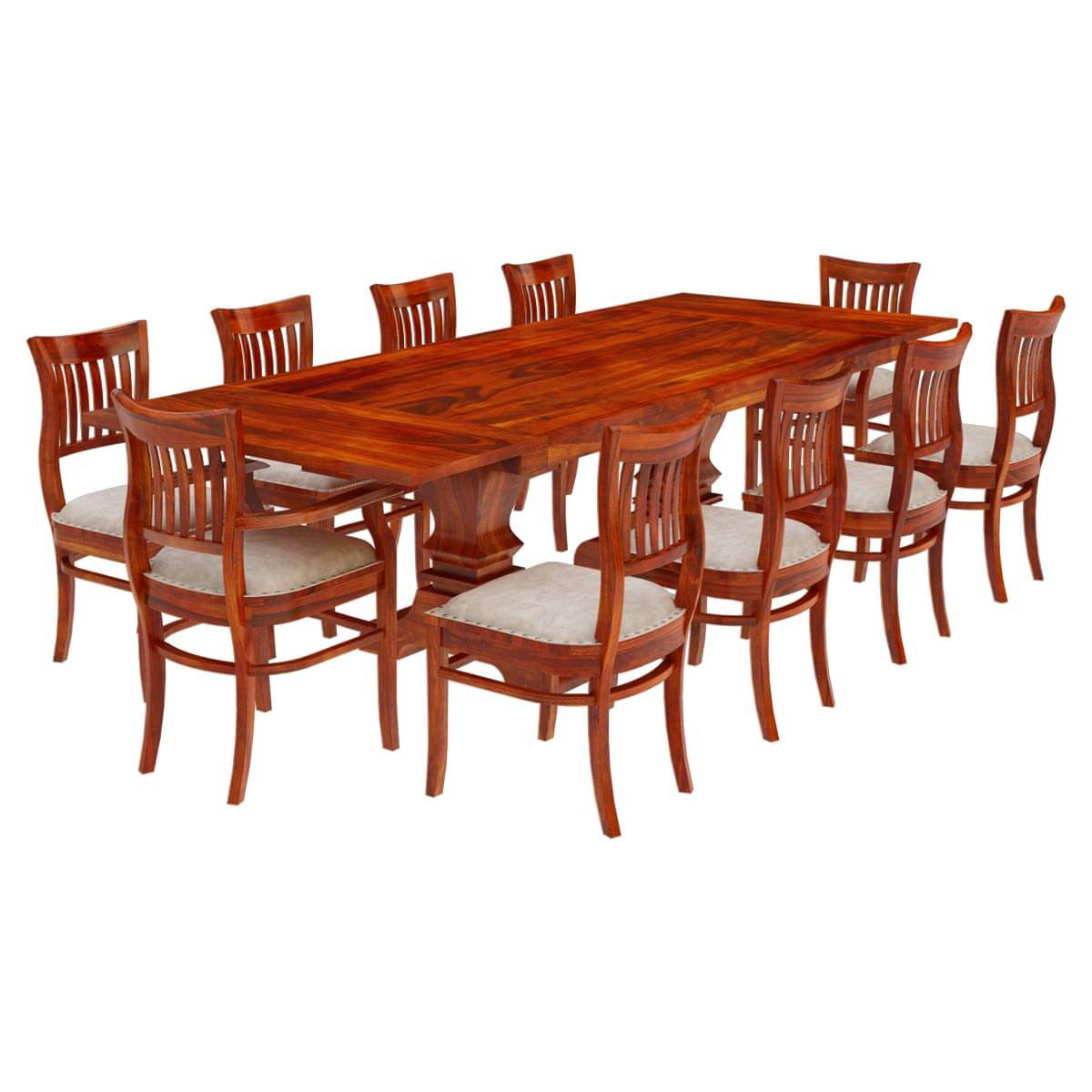 Dining Room Set For 12: Chantilly Chic Handcrafted Rosewood 12 Piece Dining Room Set