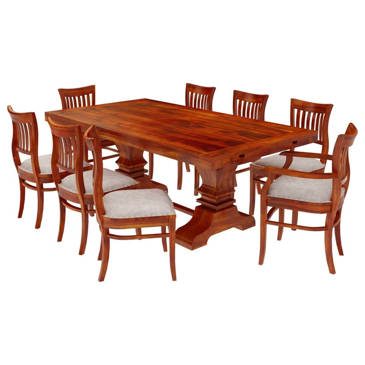 chantilly chic solid wood extendable dining table and chairs set. Black Bedroom Furniture Sets. Home Design Ideas