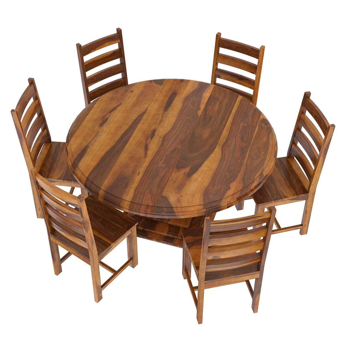 Solid Wood Dining Room Set: Cloverdale Solid Wood 8 Piece Round Dining Room Set