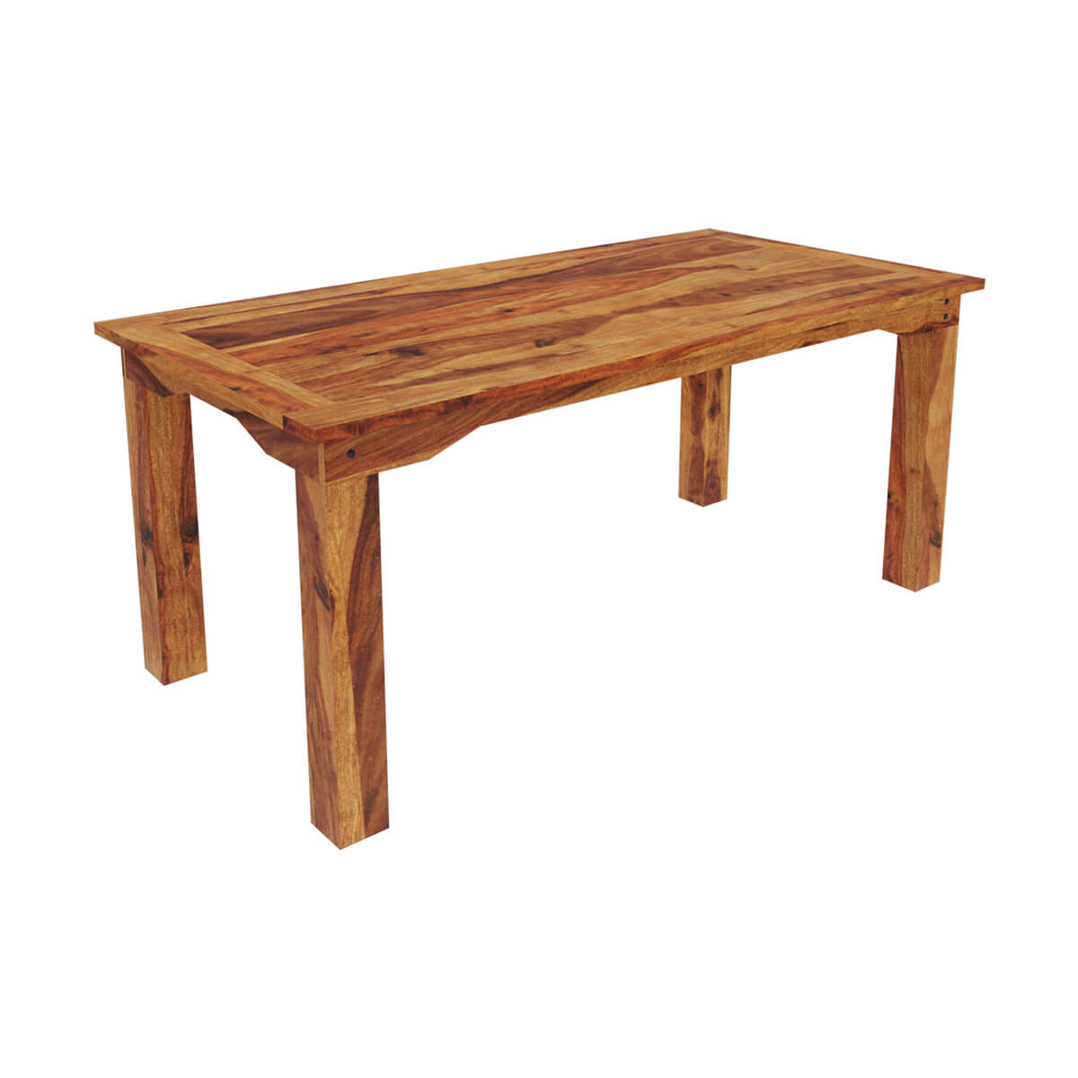 Modern Rustic Dining Table: Idaho Modern Rustic Solid Wood Dining Table