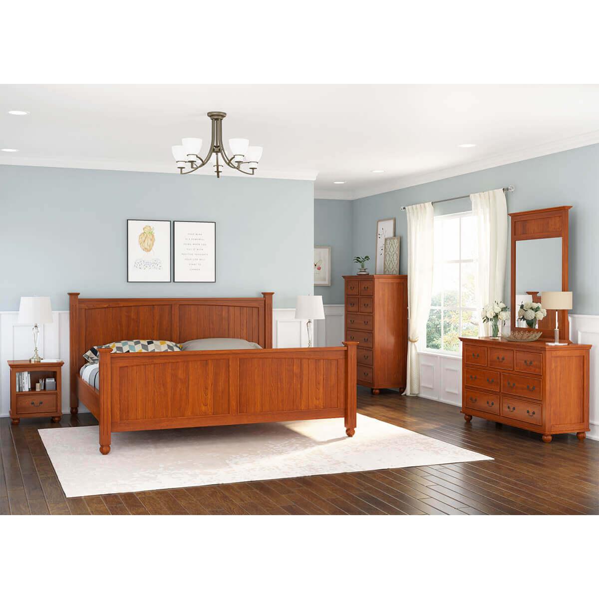 Delanson Solid Mahogany Wood 6 Piece California King Size Bedroom Set